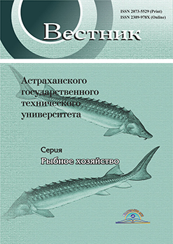 SPECIFIC FEATURES OF FEEDING THE FINGERLINGS OF RUSSIAN STURGEON AND ITS HYBRID WHILE REARING IN THE BASINS IN THE CONDITIONS OF THE ALMATA REGION
